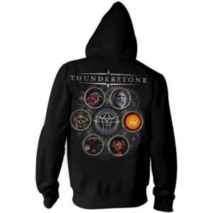 TS discography hoodie back square